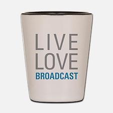 Broadcast Shot Glass
