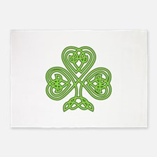 Celtic Shamrock - St. Patricks Day 5'x7'Area Rug