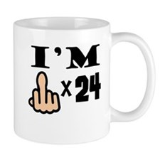 Im Middle Finger Times 24 Mugs