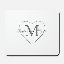 Romantic Monogram Mousepad