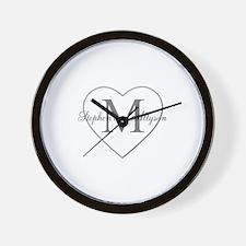 Romantic Monogram Wall Clock