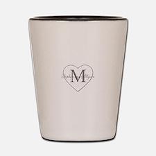 Romantic Monogram Shot Glass