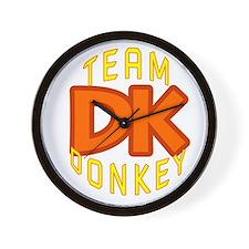 Team Donkey Kong Wall Clock