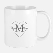 Romantic Monogram Mugs