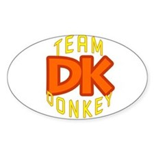 Team Donkey Kong Oval Decal
