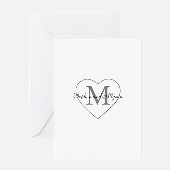 Romantic Monogram Greeting Cards