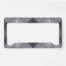 Grey Argyle License Plate Holder