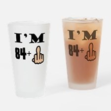 Middle Finger 85th Birthday Drinking Glass