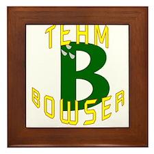 Team Bowser Framed Tile