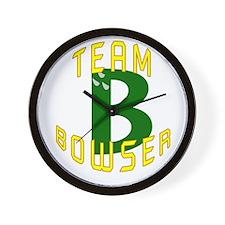 Team Bowser Wall Clock