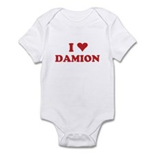 I LOVE DAMION Infant Bodysuit