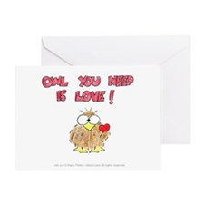 Owl You Need Is Love! Card Greeting Cards