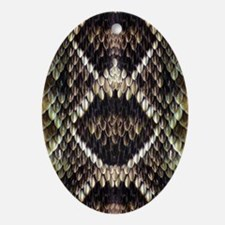 Eastern Diamondback Rattlesnake Ornament (Oval)