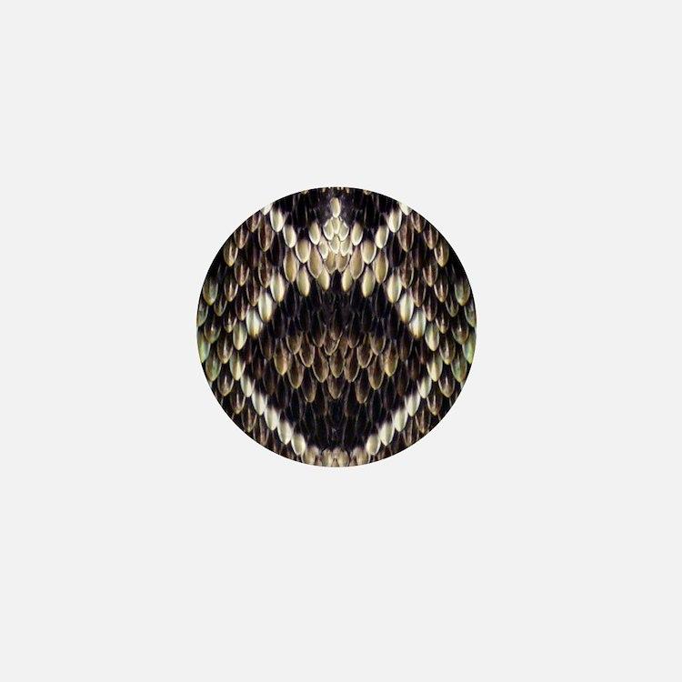 Eastern Diamondback Rattlesnake Mini Button