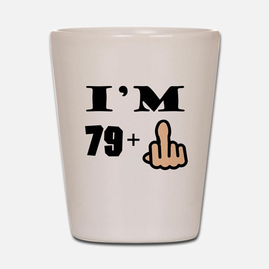 Middle Finger 80th Birthday Shot Glass