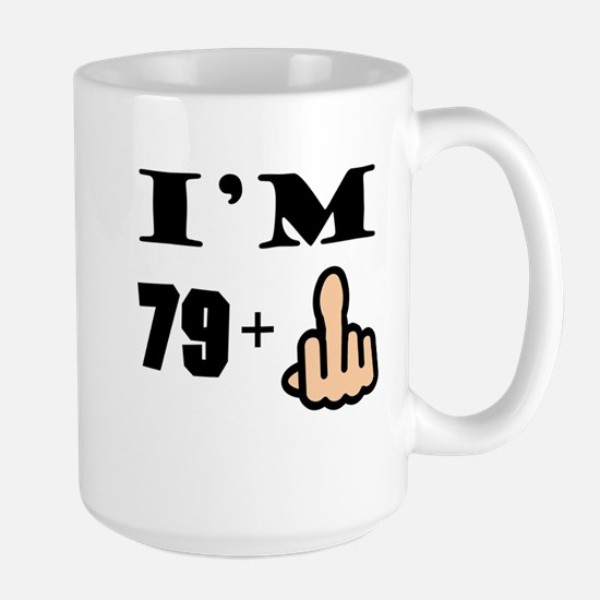 Middle Finger 80th Birthday Mugs