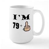 80th birthday Large Mugs (15 oz)