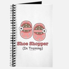 Pink Brown Baby Shoes Journal