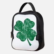 St Patricks Shamrock - Washed Neoprene Lunch Bag