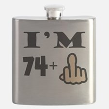 Middle Finger 75th Birthday Flask