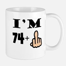 Middle Finger 75th Birthday Mugs