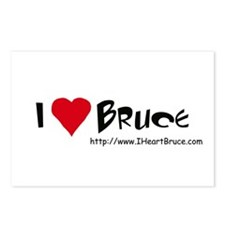 I Heart Bruce Postcards (Package of 8)