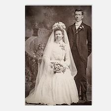 1800s bride groom antique Postcards (Package of 8)