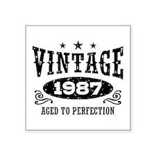 "Vintage 1987 Square Sticker 3"" x 3"""