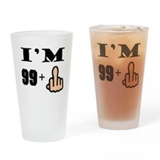 Middle Finger 100th Birthday Drinking Glass