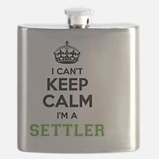 Cute Settlers Flask