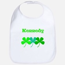 Personalized Irish Name 4 Leaf Clovers for Ted Bib