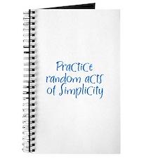 Practice random acts of Simpl Journal