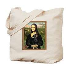 Mona Lisa (new) & Min. Pinscher Tote Bag