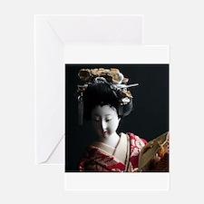 japanese asian geisha doll photo Greeting Cards