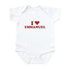I LOVE EMMANUEL Infant Bodysuit