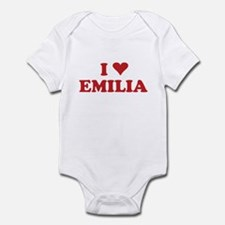 I LOVE EMILIA Infant Bodysuit