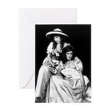 lillian dorothy gish sisters black w Greeting Card