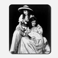 lillian dorothy gish sisters black white Mousepad