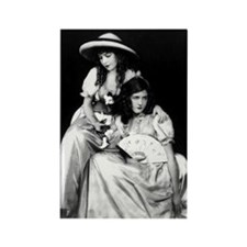 lillian dorothy gish sisters blac Rectangle Magnet
