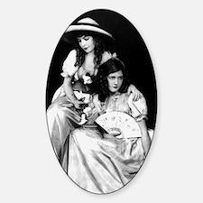 lillian dorothy gish sisters black  Sticker (Oval)