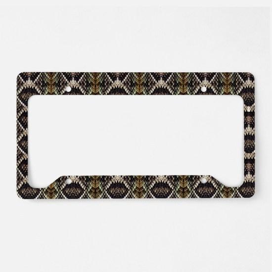 Diamondback Rattlesnake License Plate Holder