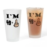 49 plus middle finger Drinking Glass