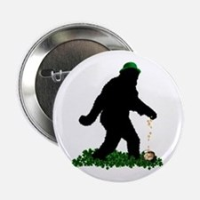 "Lucky St Patricks Day Sasquatch 2.25"" Button"