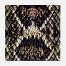 Eastern Diamondback Rattlesnake Tile Coaster