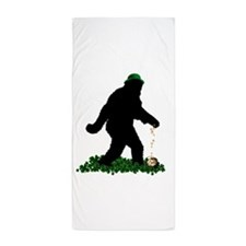 Lucky St Patricks Day Sasquatch Beach Towel