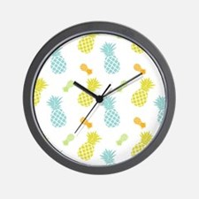 Colorful Pineapples Pattern Wall Clock