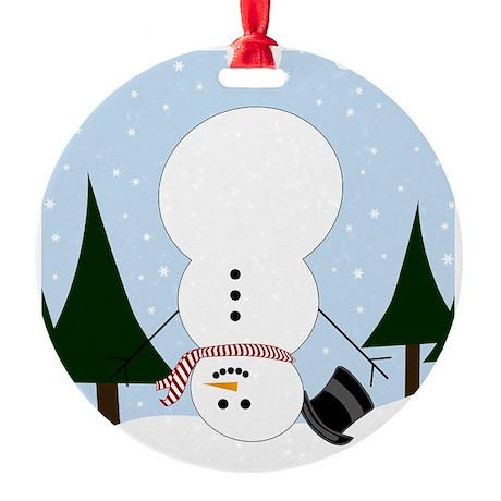 Upside-down Snowman Ornament by designedwithtlc