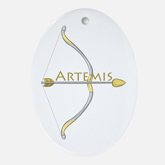 Bow of Artemis Ornament (Oval)