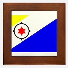 Bonaire Flag Framed Tile