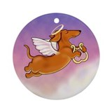 Red doxie angel Ornaments